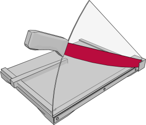 Aufbau Hebelschneider: Obermesser