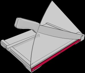 Aufbau Hebelschneider: Untermesser