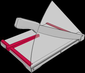 Aufbau Hebelschneider: Winkelanlage