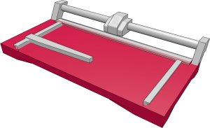 Aufbau Rollenschneidemaschine: Arbeitsfläche