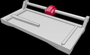 Aufbau Rollenschneider: Messerkopf