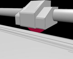 Aufbau Rollenschneider: Rollmesser