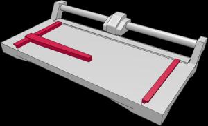 Aufbau Rollenschneider: Winkelanlage